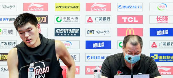 吴庆龙坦言球员还需打磨,刘传兴:对位周琦收获了经验