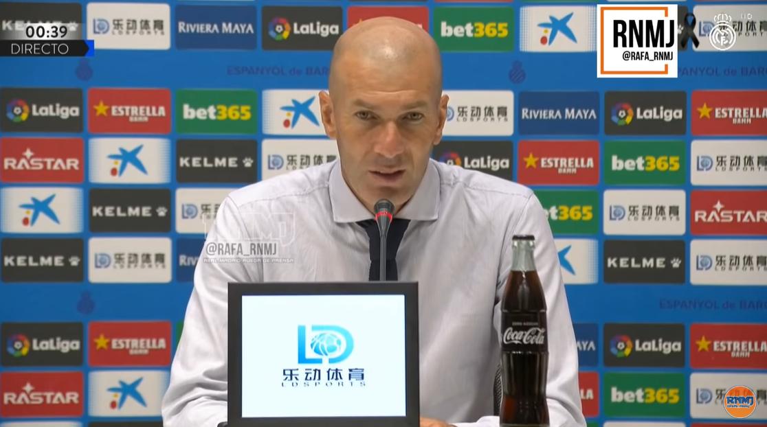 齐达内:西班牙人的球员不错,尤其是他们的锋线
