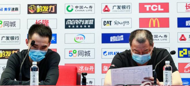 吴庆龙不满全队防守:大家的斗志没前几场高