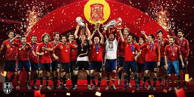 2008年的今天,西班牙夺得欧洲杯,从此开启大赛三连冠!
