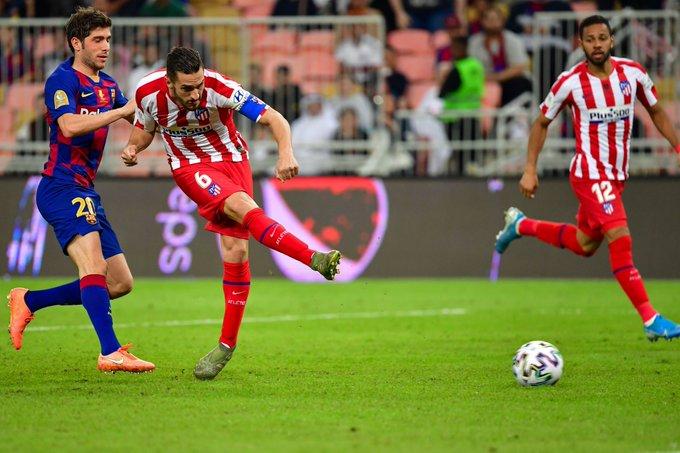 不俗!马竞西甲赛场客战巴萨共打进101球,仅次于皇马