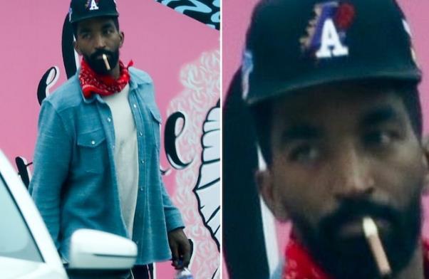 JR-史密斯现身洛杉矶街头,戴着带有湖人标志的帽子