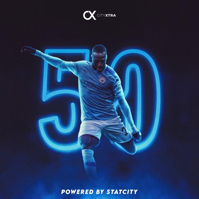 里程碑!门迪迎来自己为曼城的第50次英超出场  足球话题区