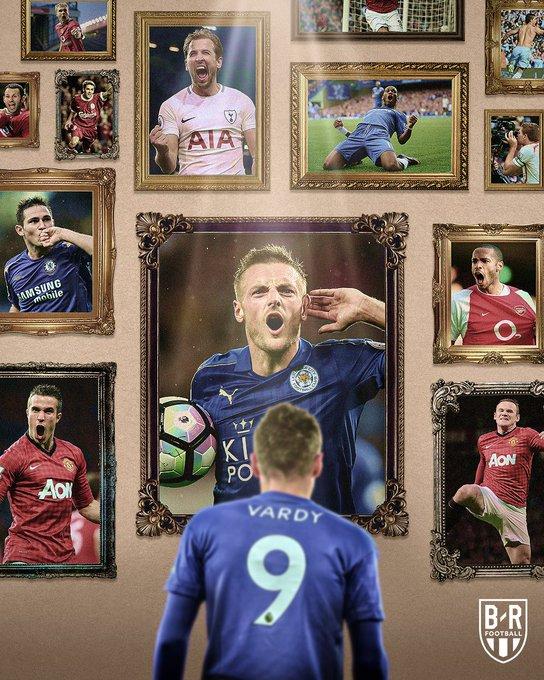 传奇!B/R海报,祝贺瓦尔迪加入英超百球俱乐部