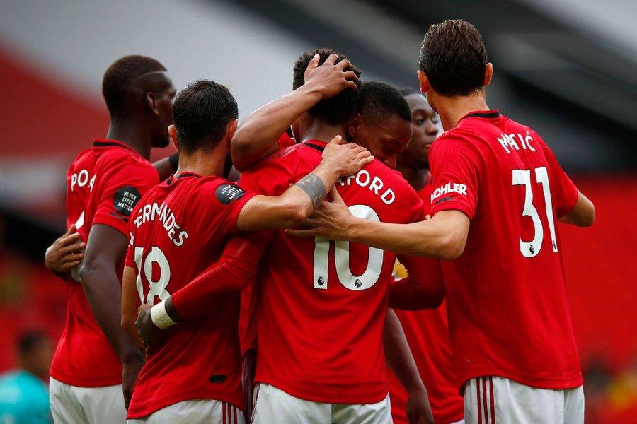 红魔归来!2011年12月以来,曼联首次在主场打进5粒进球