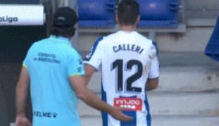 GIF:雪上加霜!卡莱里被罚下场,西班牙人10人应战