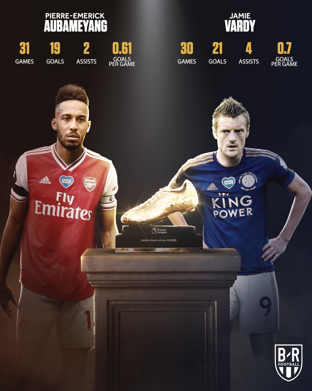 B/R海报:枪手战蓝狐,奥巴梅扬与瓦尔迪的英超金靴之争