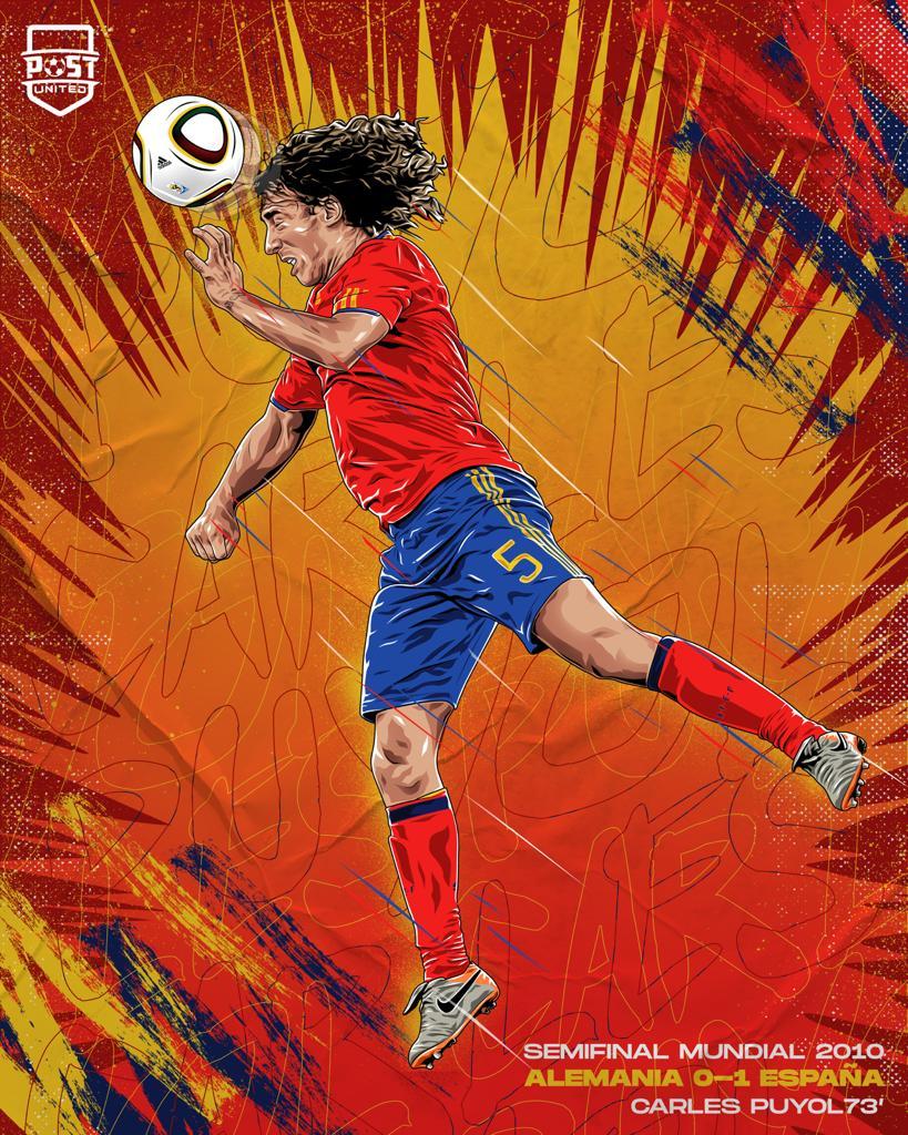 10年前的今天,普约尔头球助西班牙淘汰德国进世界杯决赛