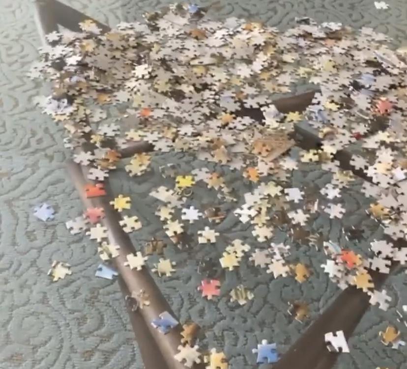 特纳晒1000块拼图:一切都押宝在我能多久完成这个东西