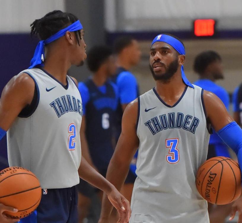 NBA官方发布雷霆、独行侠、快船、国王最新训练图集