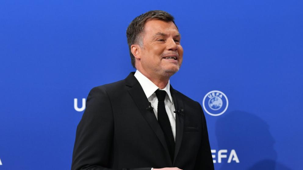 德国名宿做客欧联杯抽签现场