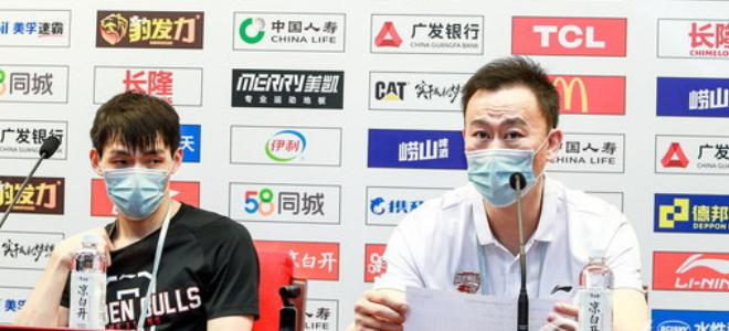 刘维伟:下半场主要防守出问题,朱旭航正常轮休没受伤