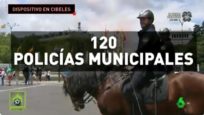 马德里政府今晚部署300警力,随时准备封锁西贝莱斯广场