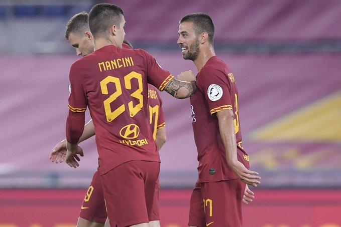 GIF:哲科助攻斯皮纳佐拉破门,罗马中场前扳平比分