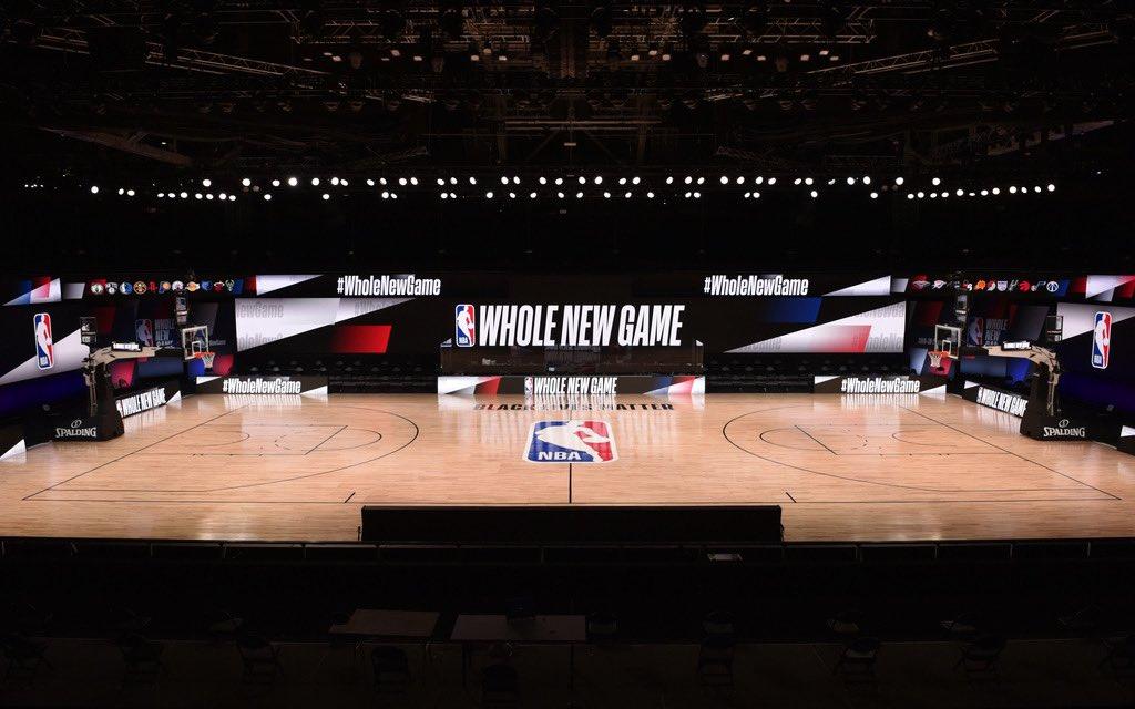 专业大气!NBA官推发布复赛场地全景照