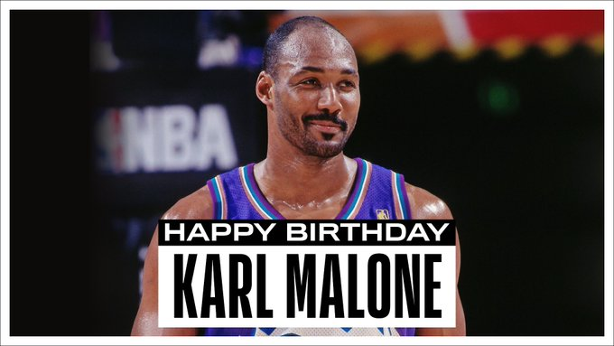 NBA官方晒图祝名人堂球员卡尔-马龙57岁生日快乐