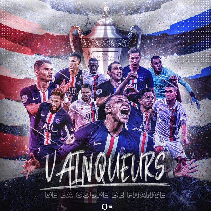 巴黎捧起队史第13座法国杯冠军,继续朝三冠王进发!
