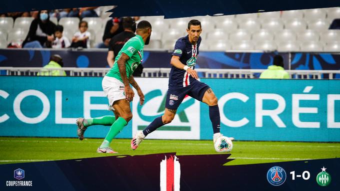 GIF:迪马利亚越位在先进球无效,巴黎错失良机