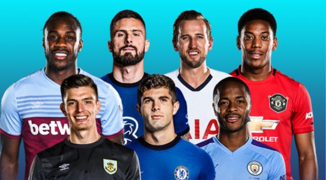 英超7月最佳球员候选名单:斯特林吉鲁、凯恩马夏尔在列
