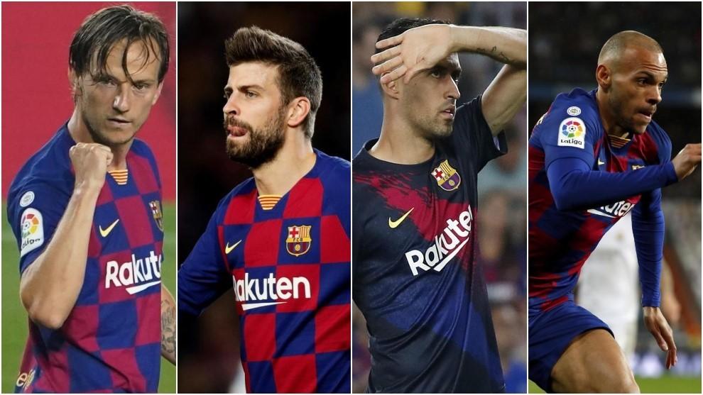 本赛季巴萨只有四名球员未因伤缺阵,登贝莱受伤时长最久