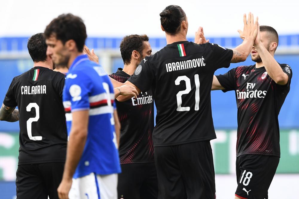 米兰成五大联赛中复赛后进球数第二多的球队,仅次于曼城
