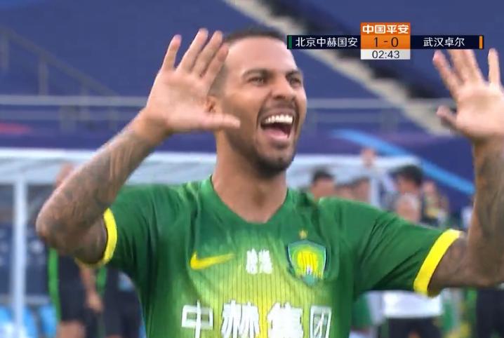 GIF:梦幻开局!比埃拉开场2分钟破门,国安1-0卓尔