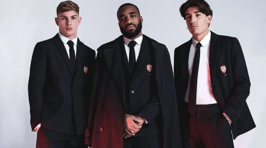 备战时尚两不误,贝莱林为阿森纳足总杯决赛设计西装