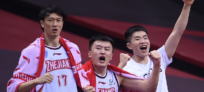 创造历史!浙江队队史首度在季后赛淘汰对手