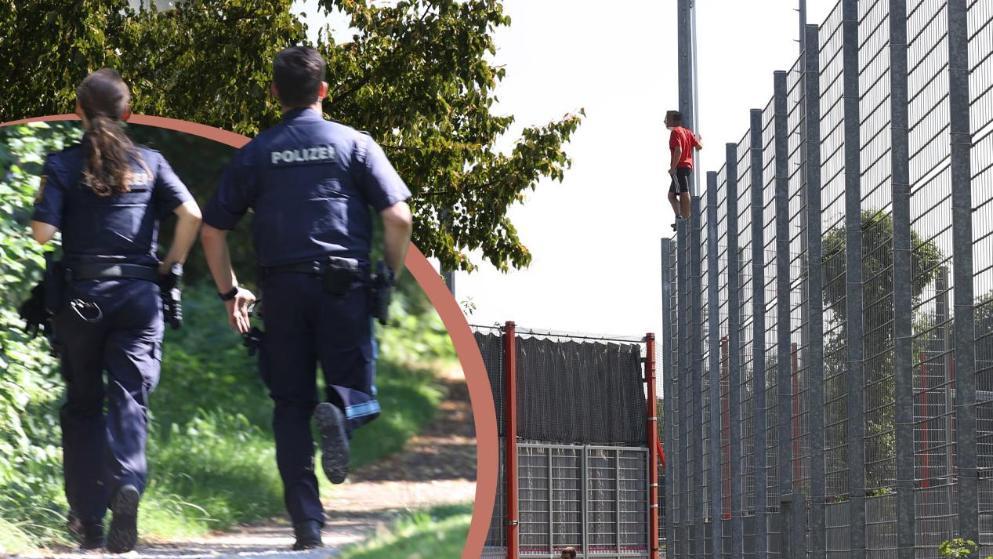 是真爱?拜仁球迷爬上6米高围栏看比赛,惊动警察出动