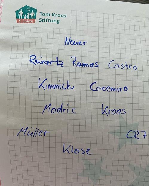 克罗斯排告别赛首发:C罗拉莫斯诺伊尔穆勒克洛泽入选