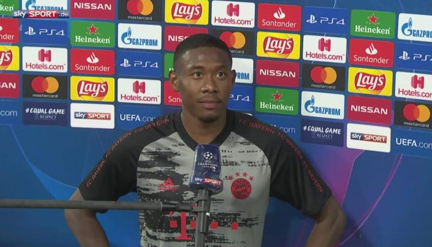 阿拉巴:巴萨球员的个人能力很强,但拜仁充满决心