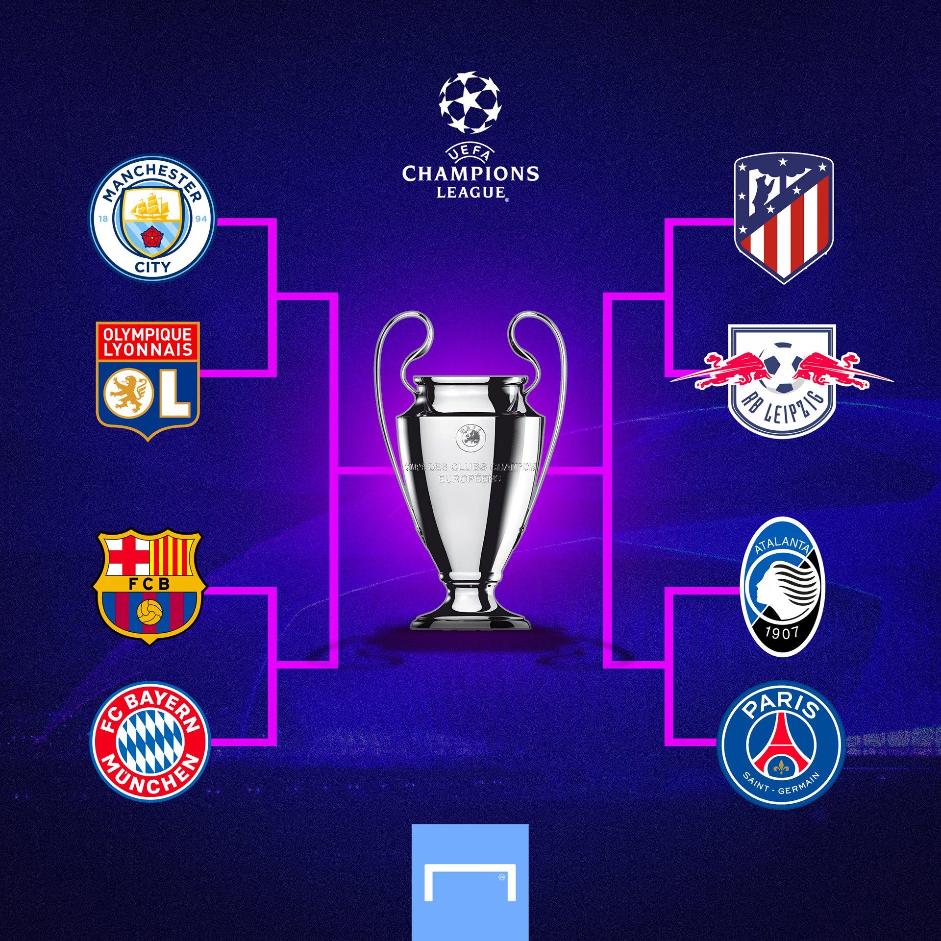 确认进入前8名后的冠军联赛赔率:曼城榜首,拜仁巴黎巴塞罗那2-4