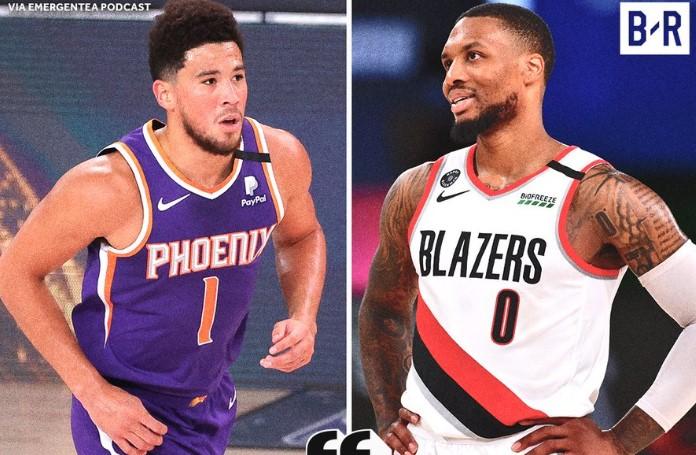 利拉德:布克也可以拿复赛MVP,但我想要季后赛席位