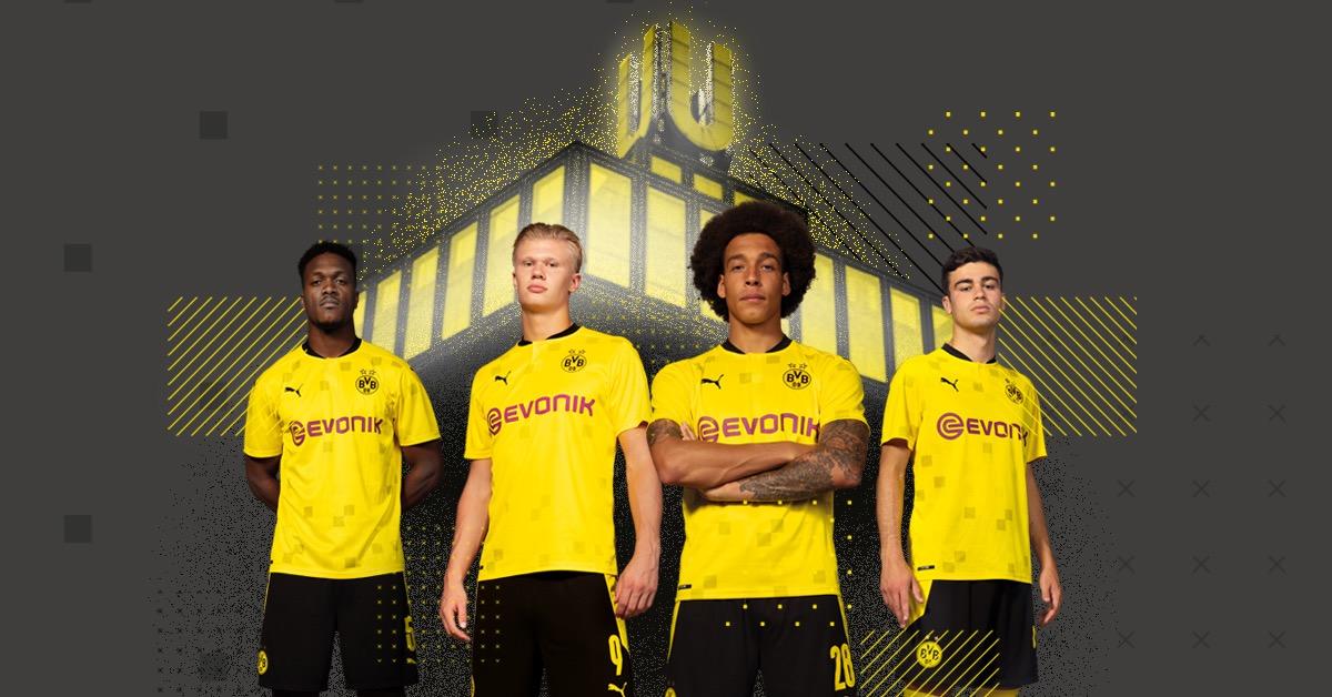 多特发布新赛季杯赛球衣:传统金色配搭方格补丁图案