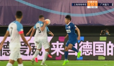 GIF:托西奇手球送点,莫雷诺命中!富力3-2申花