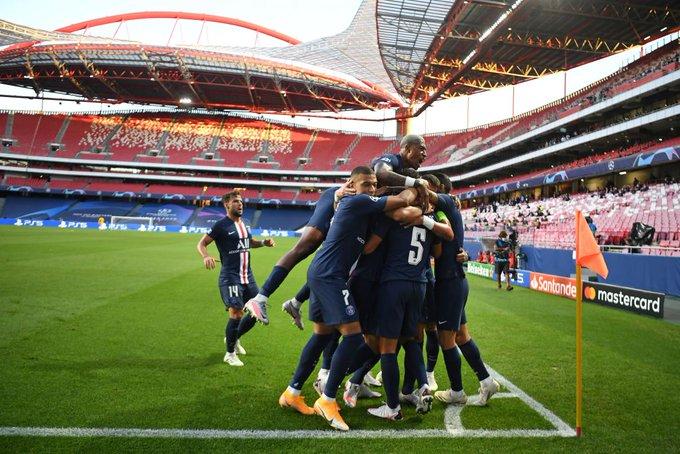 GIF:内马尔助攻迪马利亚推射破门,巴黎两球领先莱比锡