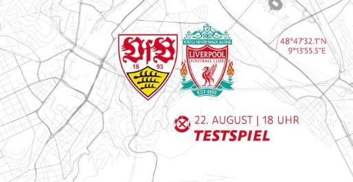 斯图加特官方:将在8月22日与利物浦踢友谊赛