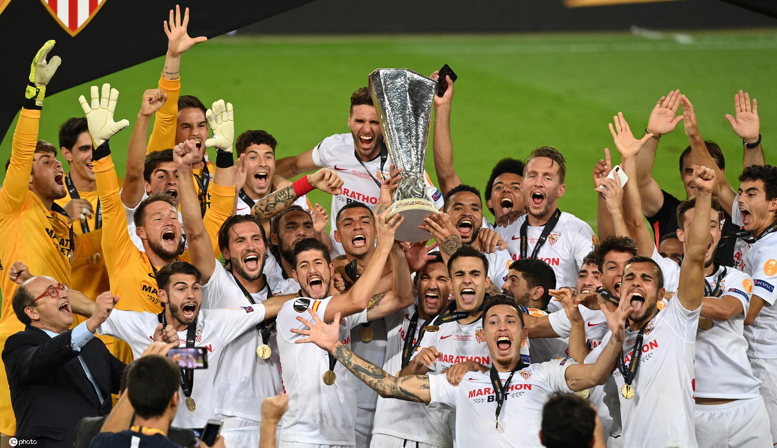 卡洛斯倒钩致胜,塞维利亚3-2国米第六次夺欧联冠军