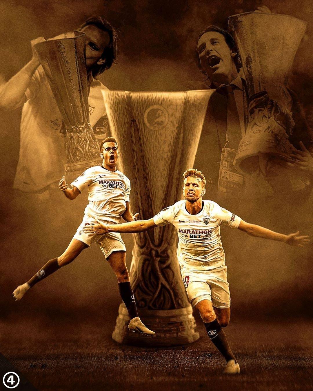 心怀旧主!拉莫斯发文庆祝塞维利亚6次捧得欧联杯冠军