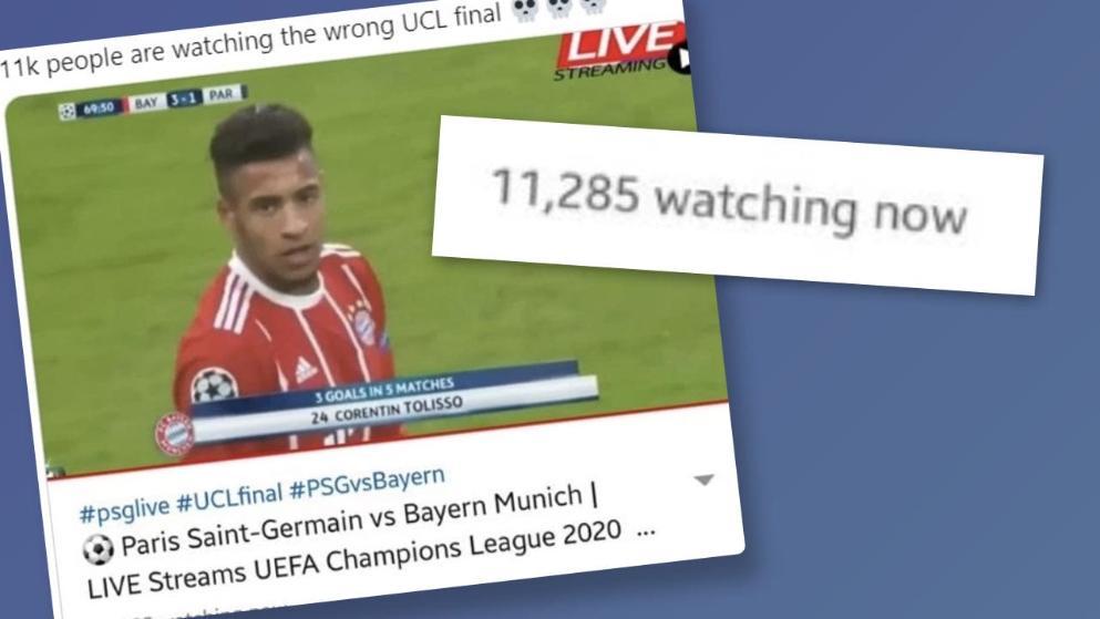 有1万名球迷找错决赛直播链接,看了<a href=
