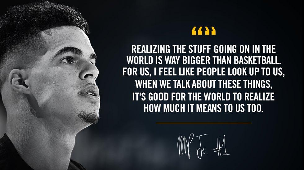 小波特:世界上正在发生的事情远比篮球重要得多
