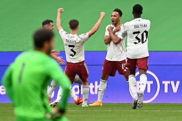 半场:奥巴梅扬破门范戴克进球被吹,阿森纳1-0利物浦