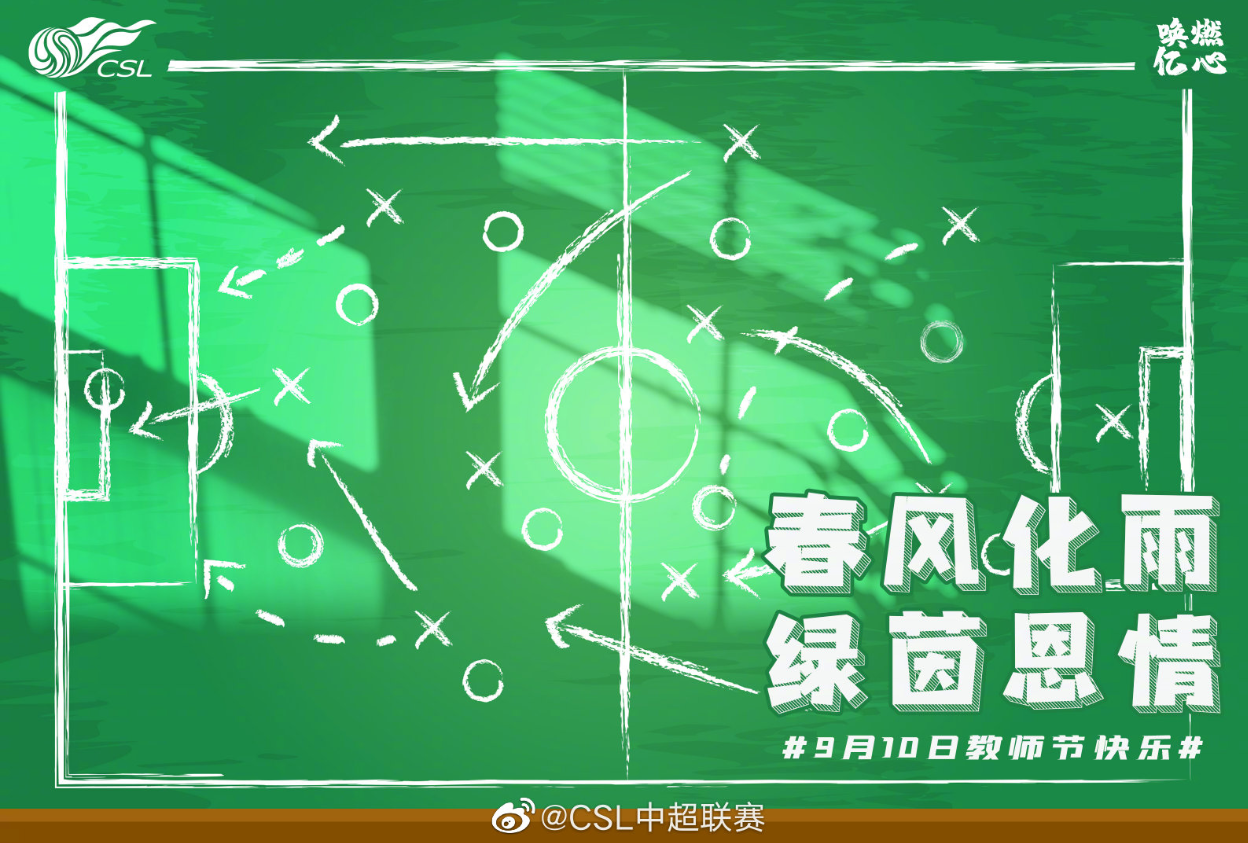 春风化雨,绿茵恩情!中超官方祝足球教父们教师节快乐
