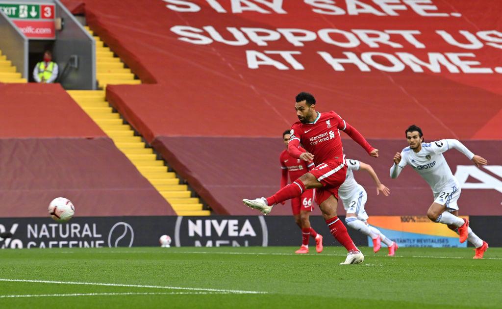全场狂轰七球萨拉赫上演帽子戏法,利物浦4-3利兹联