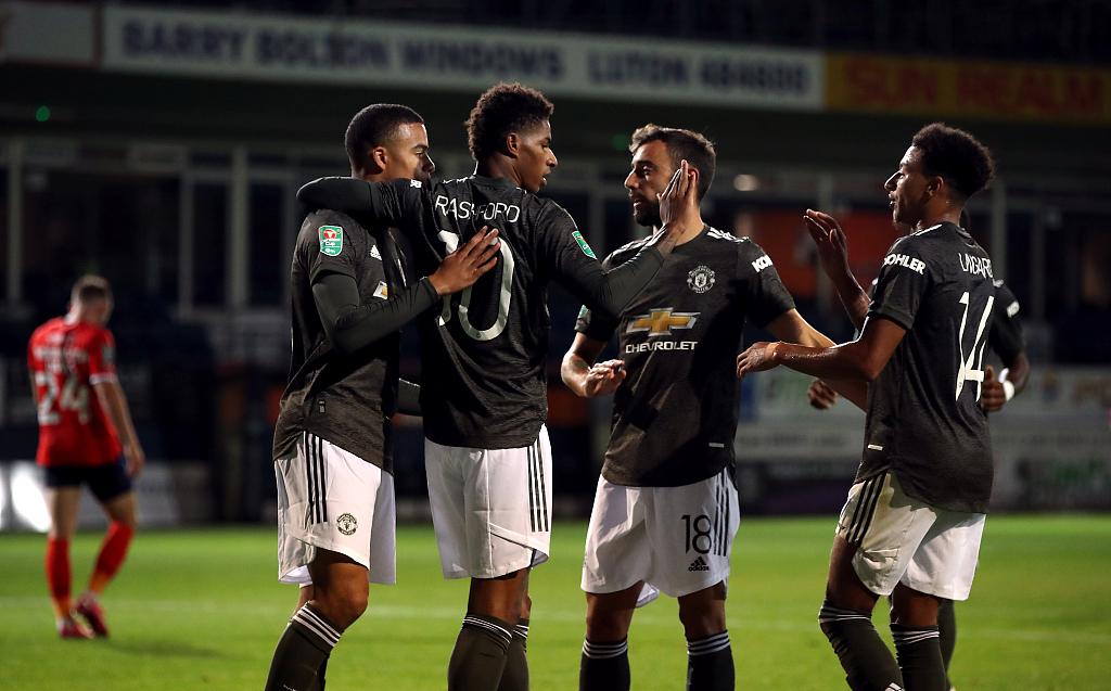 联赛杯:马塔拉什福德格林伍德破门,曼联3-0卢顿晋级