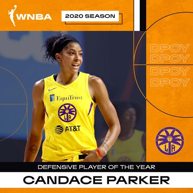 坎迪斯-帕克当选WNBA本赛季常规赛最佳防守球员