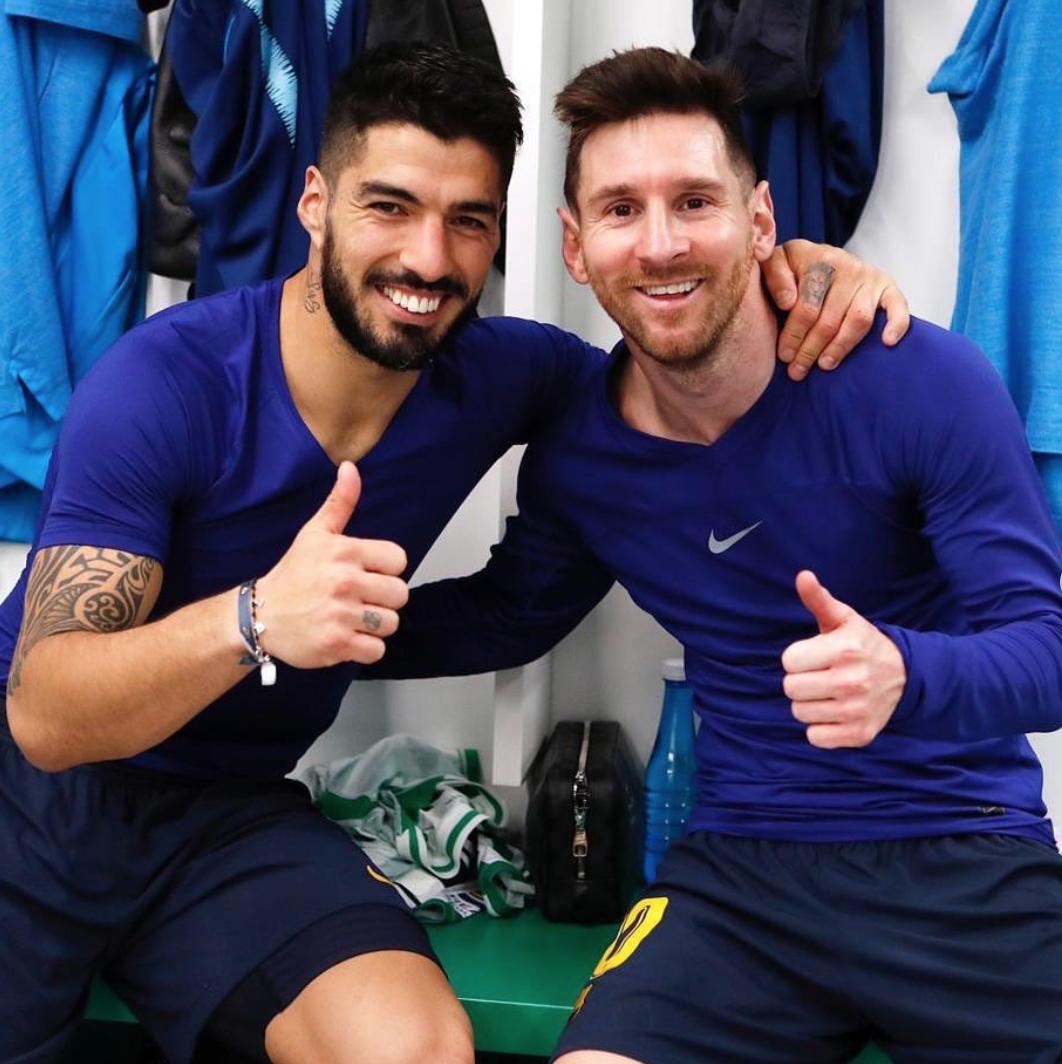 苏亚雷斯评论梅西:继续享受足球吧,我爱你且会非常想念你