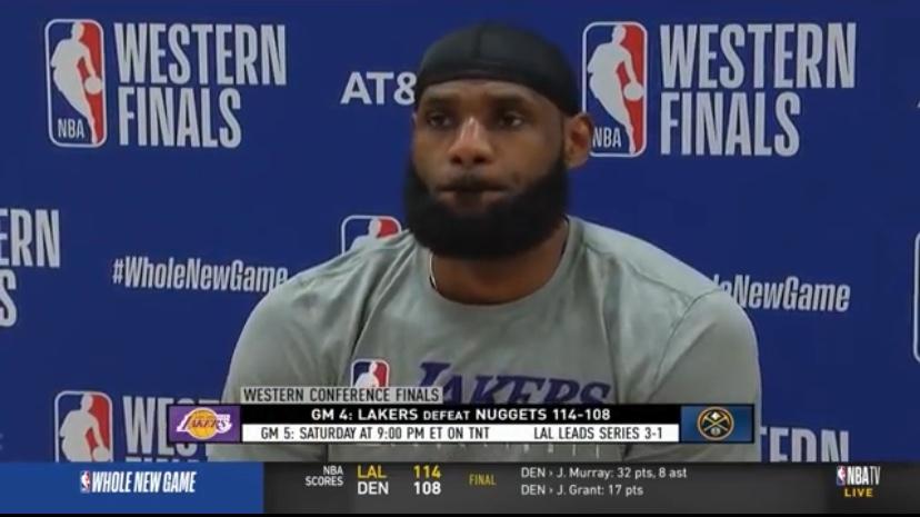 詹姆斯:霍华德保证了篮板,我们在最后阶段连续进罚球