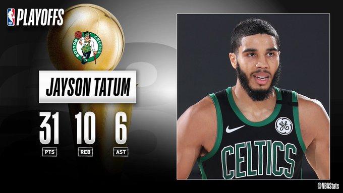 NBA官方评选最佳数据:塔特姆31分10板6助九游会平台攻当选