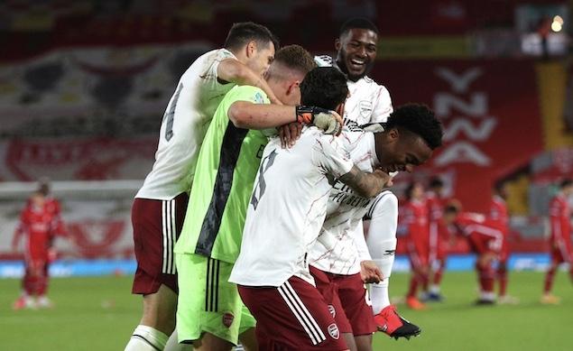 英联杯:莱诺救险+扑点,阿森纳客场点球5-4利物浦晋级